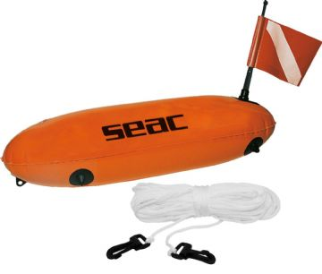 Seac Torpedo Bouy with Flag and Line - Divers Marker - Diving Spearfishing SMB
